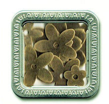 Maya Road Trinkets Metal Flower Elements (16 pcs) & Decorative Tin *