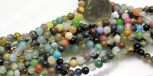 1 Strand Mixed Gemstone 4mm Round Beads