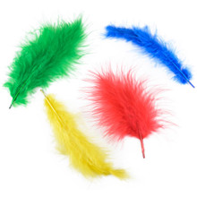 "0.25 Ounce Large Vibrant Primary Colored Marabou Feather Mix - Approximately 3-8"" Long"