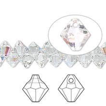 12 Swarovski Crystal  AB 6mm Top Drilled Bicone Beads ~ 6301