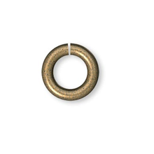 100 Antiqued Gold Plated Brass 5mm Round 18 Gauge Jumprings