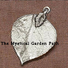 2 Antiqued Silver Leaf Charms ~  35x46mm Leaves ~ Pendants *