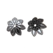 144 Black Oxide Star Flower Bead Caps   ~ 9x3mm  ~ Fits 9-12mm Beads