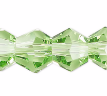 1 Strand Lime Green 6mm Faceted Bicone Diamond Crystal Beads