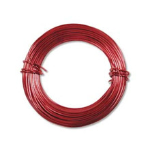 39ft RED Aluminum Wire for Wire Wrapping ~ 18 gauge