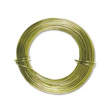 39ft Apple Green Aluminum Wire for Wire Wrapping ~ 18 gauge