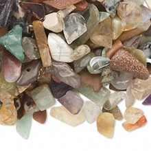 50 Grams Gemstone MIX Small to Medium UNDRILLED Chips ~ Embellishment *