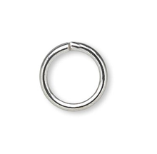 100 Silver Plated Brass 8mm Round 18 Gauge Jump Rings
