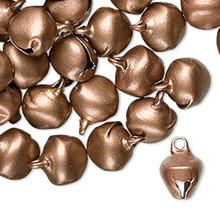 100 Steel Matte Copper Jingle Bells ~  10mm