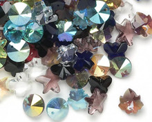 170+ Top Drilled Glass Charms & Pendants  ~ Shape & Color Mix  *