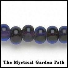 """15"""" Std Rondelle Glass Bead Dark Cobalt Blue/ Dk Purple"""