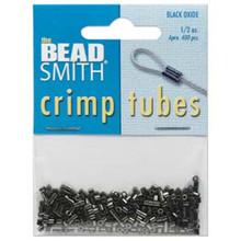 1/2 Oz ~ Approximately 250 Black Oxide Crimp Tubes ~ 2.5x2.5mm Crimping Beads *