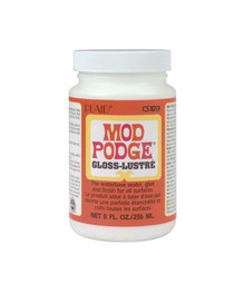 8 Ounces Original Mod Podge Gloss Finish ~Lustre Acid Free Glue & Sealer
