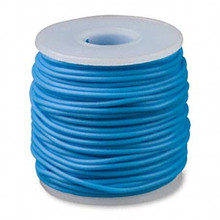 82 Foot Spool Solid Rubber 2mm Turquoise Blue Beading Cord