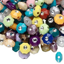 75 Grams 7mm Acrylic Octagon Assorted Colors 475+ Beads Mix *