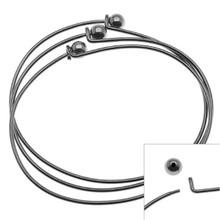 2 Black Gunmetal Oval Beading Bangle Bracelets ~ Add Beads & Charms!