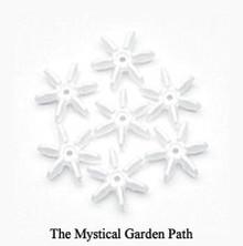 500 Opaque White Acrylic 18mm Starflake Snowflake