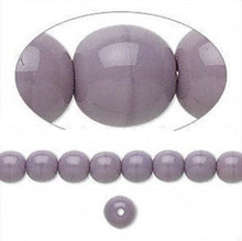 1 Strand Czech Glass Druk Opaque Purple Round Beads ~ 6mm