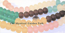 1 Strand Matte Resin 15-18mm Mixed Rondelle Gum Drop Beads *