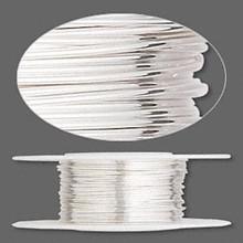 5 Feet Argentium Sterling Silver Half Hard Round Wire ~ 24 gauge