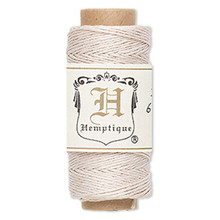 100 Foot Spool White Hemp Cord ~ 0.5mm ~ 10lb Test ~ 3 Ply
