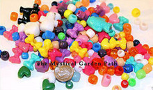 2 OZ Primary Colors Acrylic Pony Mixed Shapes Beads *