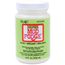 8 Ounces PAPER Mod Podge Gloss Finish ~ Acid Free Glue & Sealer