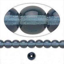 1 Strand Czech Druk Glass Round Transparent Montana Blue Beads ~ 6mm