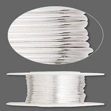 5 Feet Argentium Sterling Silver Half Hard Round Wire ~ 22 gauge