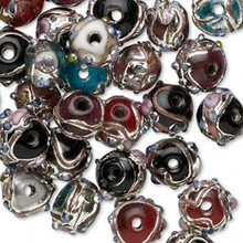 50 Grams Wedding Cake Glass Rondelle Bead Mix ~ 10x8mm