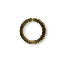 500 Antique Brass Plated Steel 5mm Round 22 Gauge Jump Rings