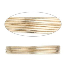 5 Feet 12KT Gold Filled Half Hard Round Wrapping Wire ~ 22 gauge
