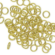 100 Gold Brass 6mm Round 20 Gauge Jump Rings