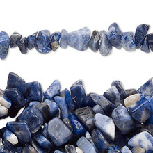 "34"" Strand Natural Sodalite Medium Chip Beads ~ 2-12mm"