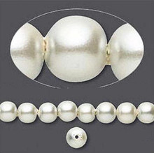 1 Strand Hemalyke Magnetic Pearl Beads ~ 6mm  Antique White