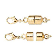 12 Large Gold Plated Brass Magna Clasp 28x7mm Magnetic Converters