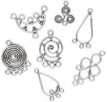 1 Troy OZ Mix Antiqued Silver Plated Copper Links,Drops, Connectors