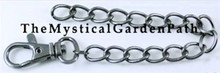 1 Antique Gunmetal Lobster Clasp with 6 Inch Chain ~ 9x13mm Links *