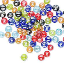 16 Inch Strand Rondelle Glass Bead Mix ~ 4x3mm-5x4mm