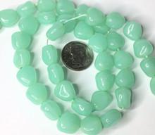 1 Strand Rock Opal Light Aqua Czech Pressed Glass Beads ~ 11x6mm *