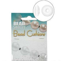 50 Bead Smith Clear Bead Bumper Cushions 2mm Rondelle  ~ Spacer for Between Beads