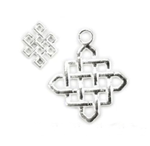 20 Shiny Silver Plated Criss-Cross Charms ~  2 sizes  *