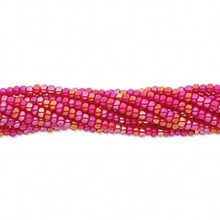 1 Hank Opaque Rainbow Red #11 Glass Seed Beads ~ Approx 4000