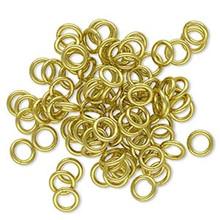 100 Gold Brass 5.5mm Round 18 Gauge Jump Rings