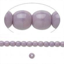 1 Strand Czech Pressed Glass Druk Opaque Purple Round Beads ~ 4mm