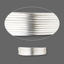 5 Feet Sterling Silver Dead Soft Round Wrapping Wire ~ 20 Gauge