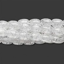 Wholesale 5 Strands Clear Crackle Glass 7x6mm Oval Crackle Beads
