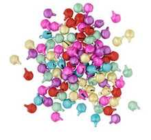 100 Steel Matte Multi Pastel Jingle Bells   ~ 6mm