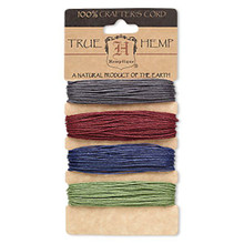 120 Foot Set ~ Assorted Earthy Pastels Color Hemp Cord ~ 1mm ~ 20lb test