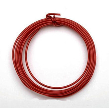3 yards RED Aluminum Wire for Wire Wrapping ~ 12 gauge  *